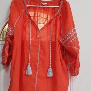 Size 1X bright orange top New with tags